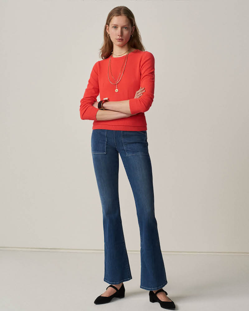 Barneys New York Cashmere Tie-Back Sweater