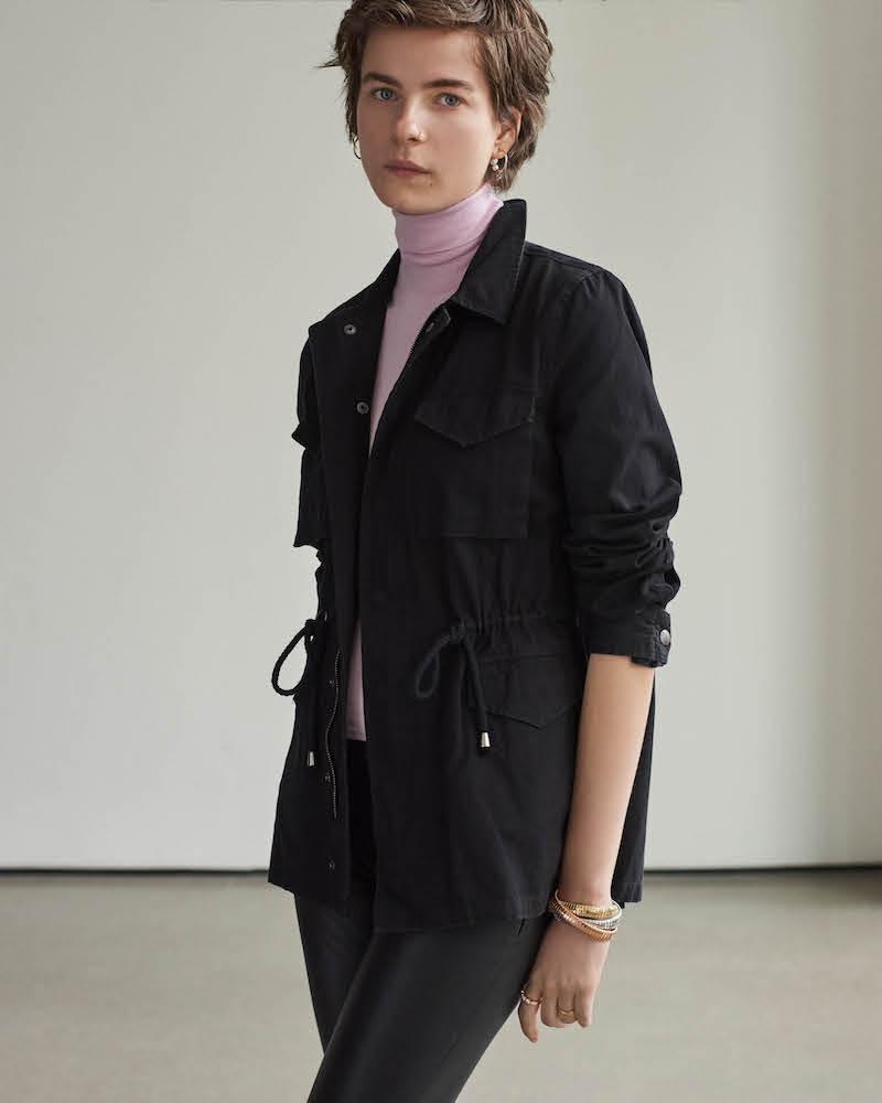 Barneys New York Cotton Canvas Jacket