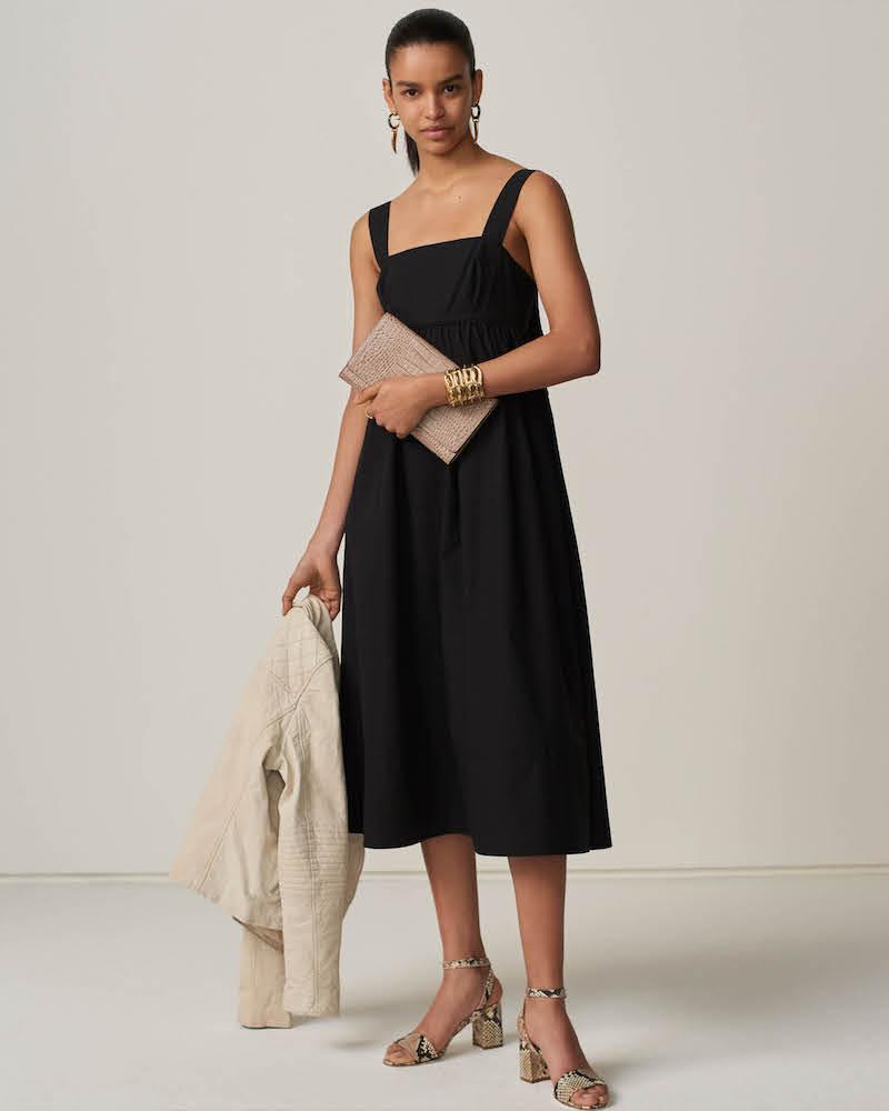 Barneys New York Cotton Poplin Midi-Dress
