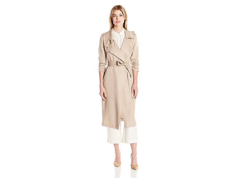 Belle Badgley Mischka Angelina Tencel Trench Coat