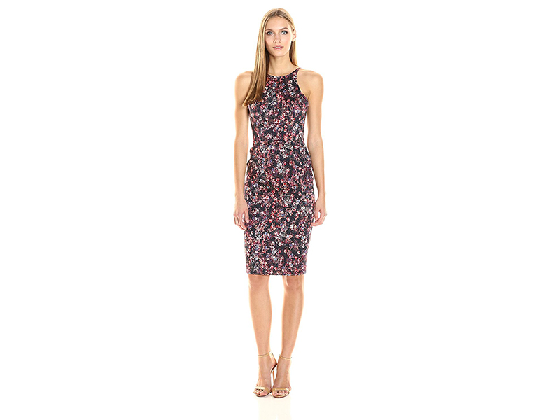 Black Halo Montego Printed Sheath Dress