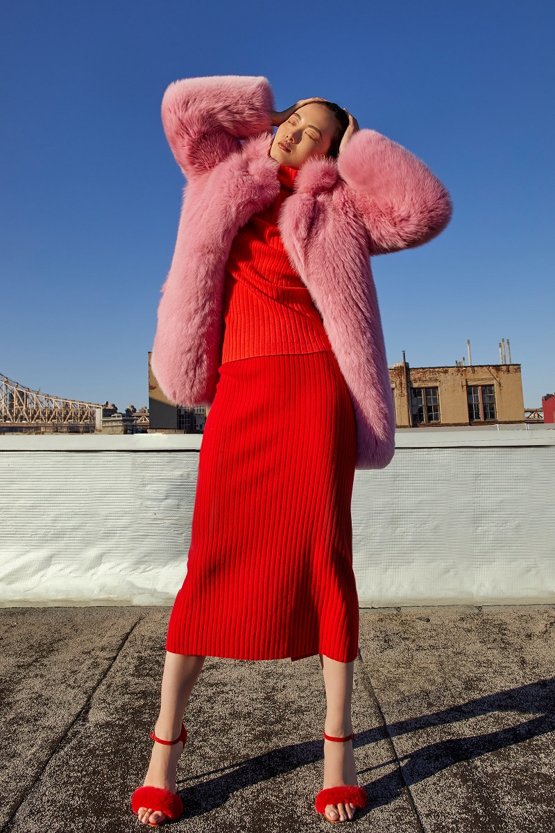 Blood & Honey Cotton Candy Fox Coat