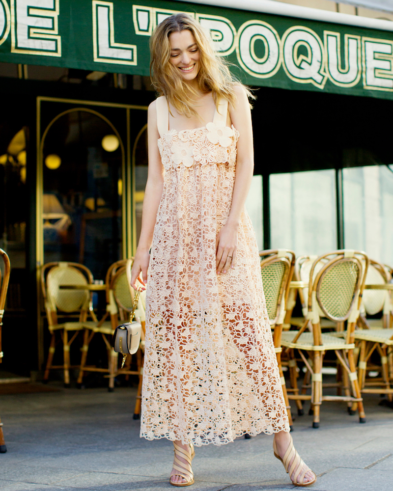 Chloé Guipure Lace Dress