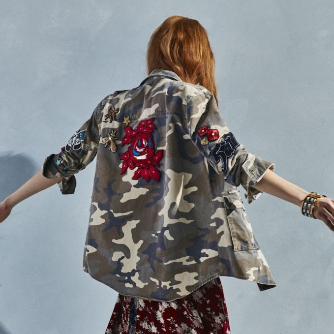 Cinq à Sept Canyon Embellished Camo Jacket