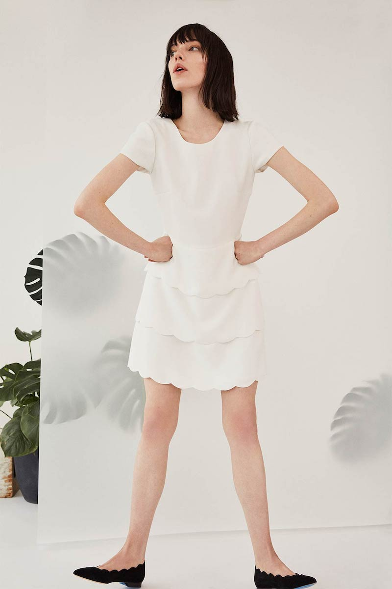 Club Monaco Colby Scalloped Dress