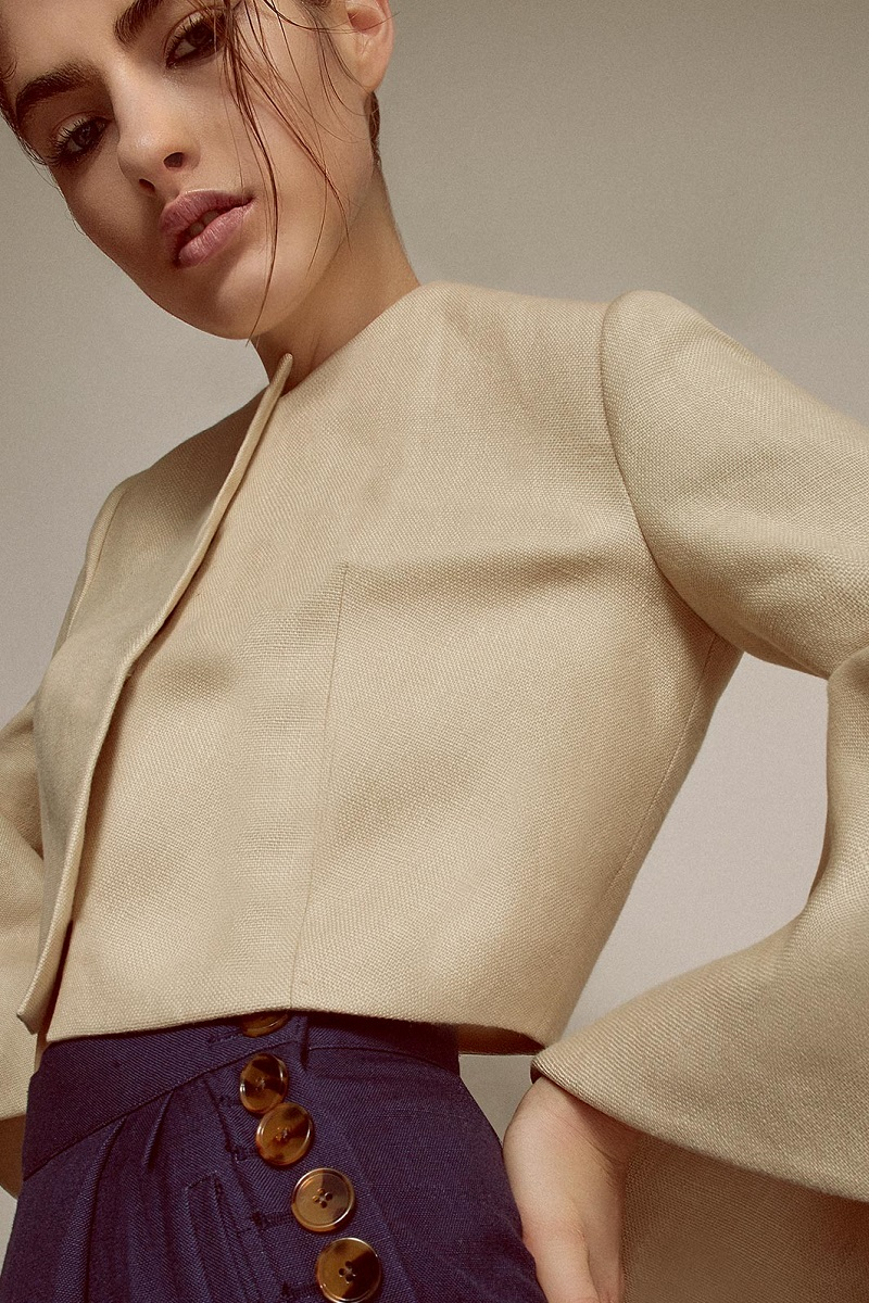 DELPOZO Frilled Cuff Jacket