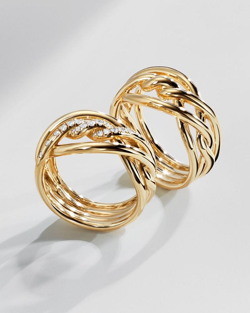 David Yurman 11.5mm Continuance 18K Gold Ring