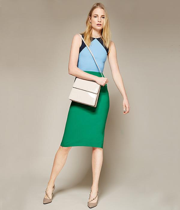 Diane von Furstenberg Sleeveless Tailored Wool Blend Dress
