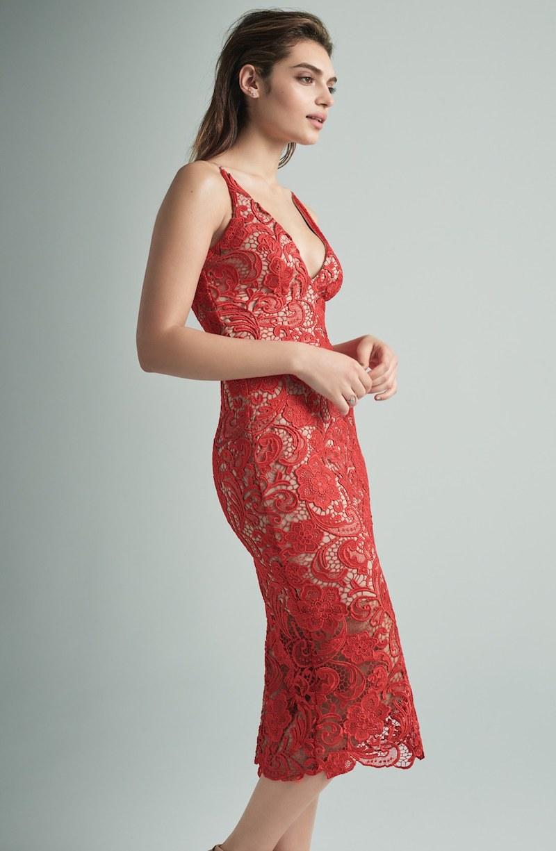 Dress the Population Marie Lace Midi Dress