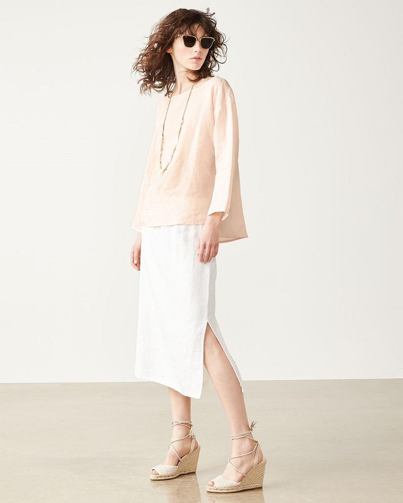 Eileen Fisher Organic Handkerchief Linen Box Top