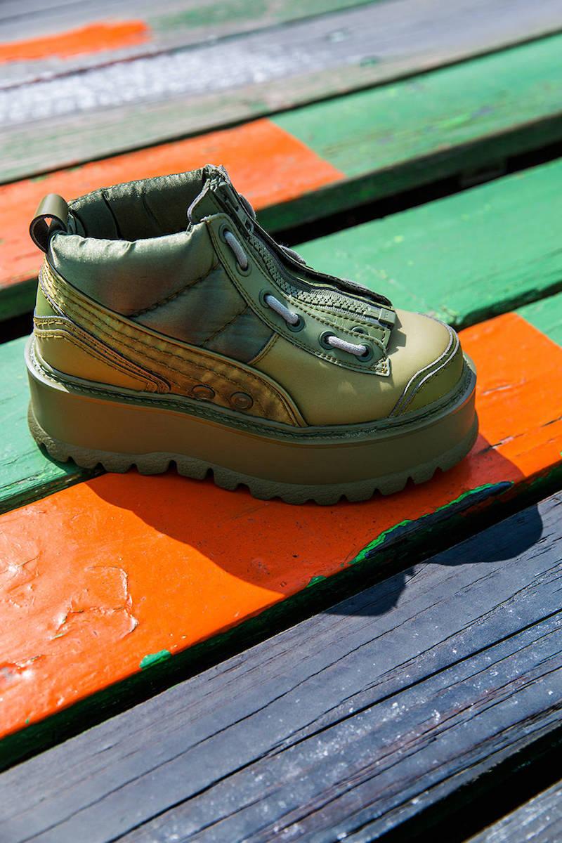 Fenty x Puma 40mm Silk & Leather Sneakers