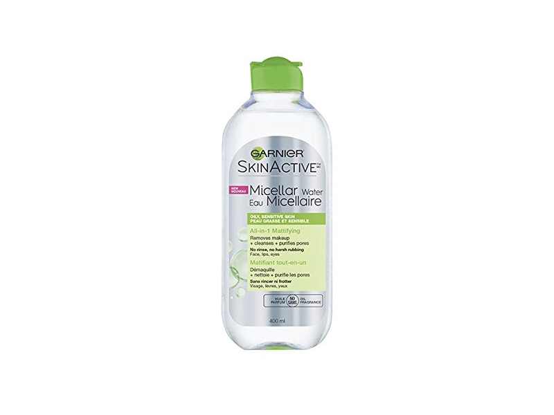 Garnier SkinActive Micellar Cleansing Water All-in-1 Cleanser & Makeup Remover for Oily Skin