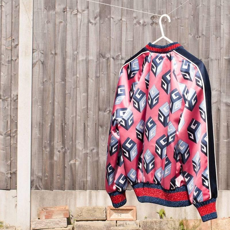 Gucci GG Wallpaper Print Duchesse Bomber Jacket