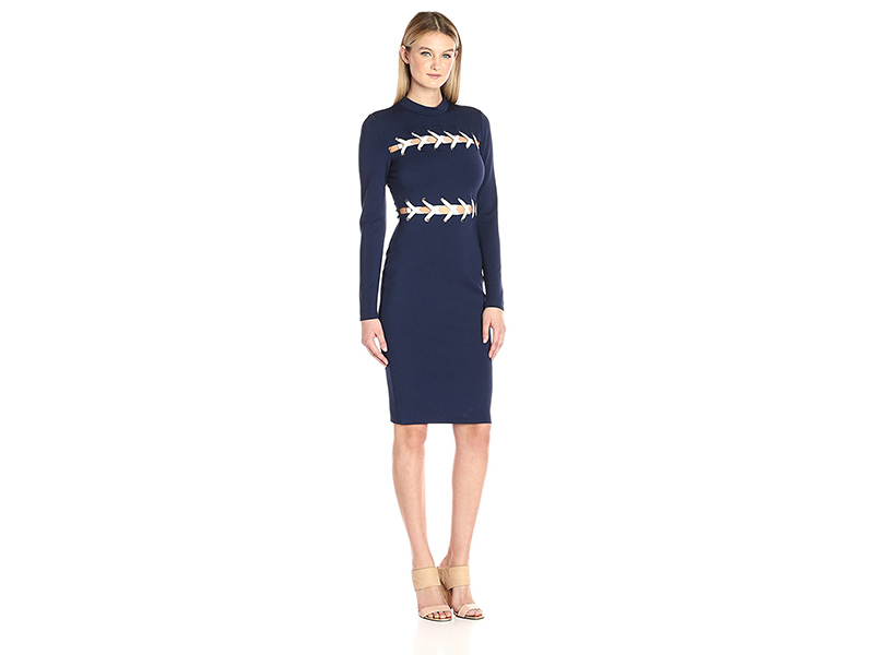 Guess Long Sleeve Pia Lace-up Dress