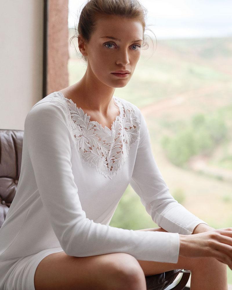 Hanro Frida Long-Sleeve Nightgown