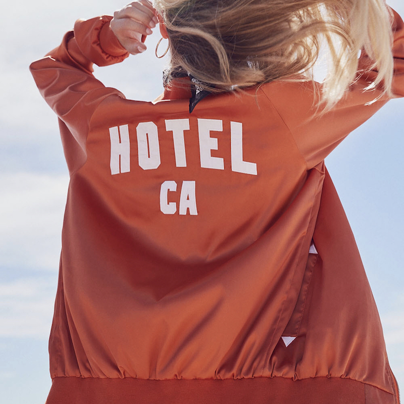 Hotel 1171 Hotel CA Satin Bomber in California Poppy