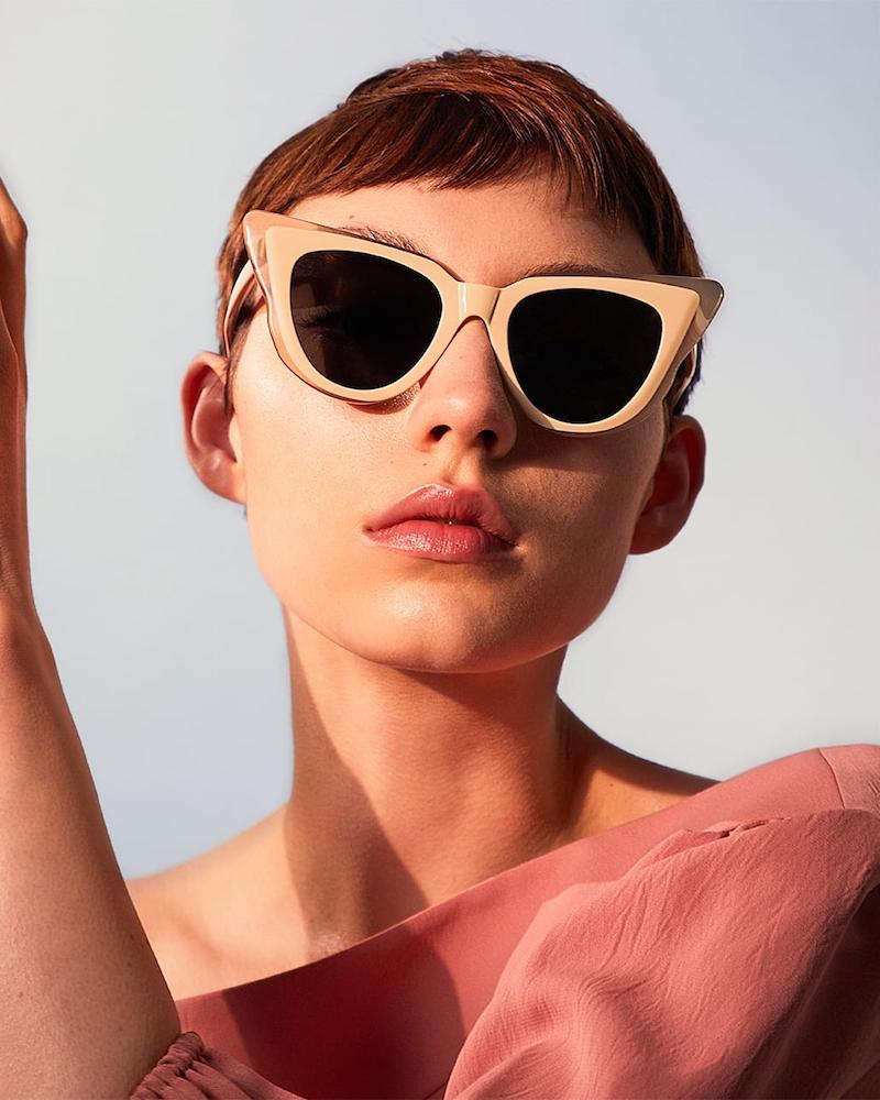 Illesteva Emmanuelle Cat-Eye Acetate Sunglasses