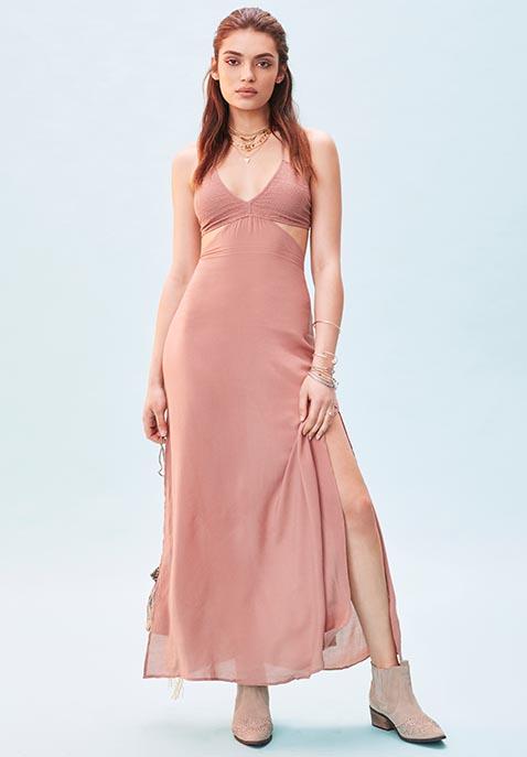 Indah Blaze Cutaway Maxi Dress