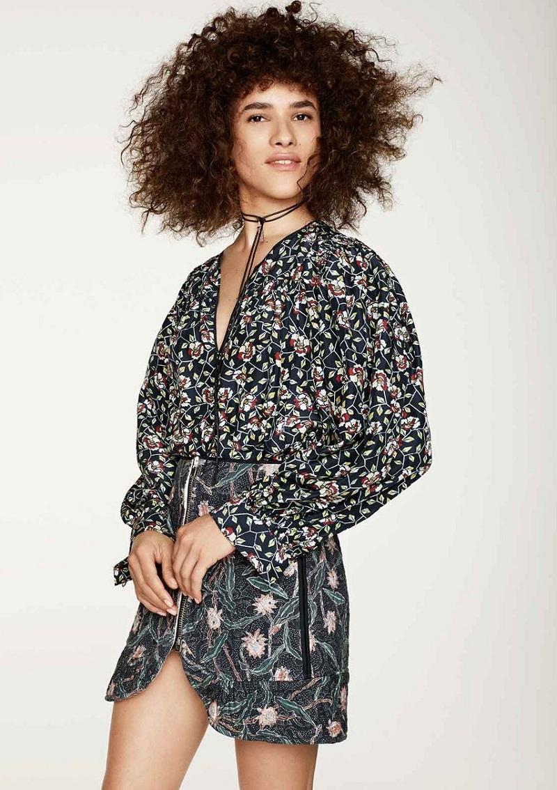 Isabel Marant Ryton floral-print silk blouse