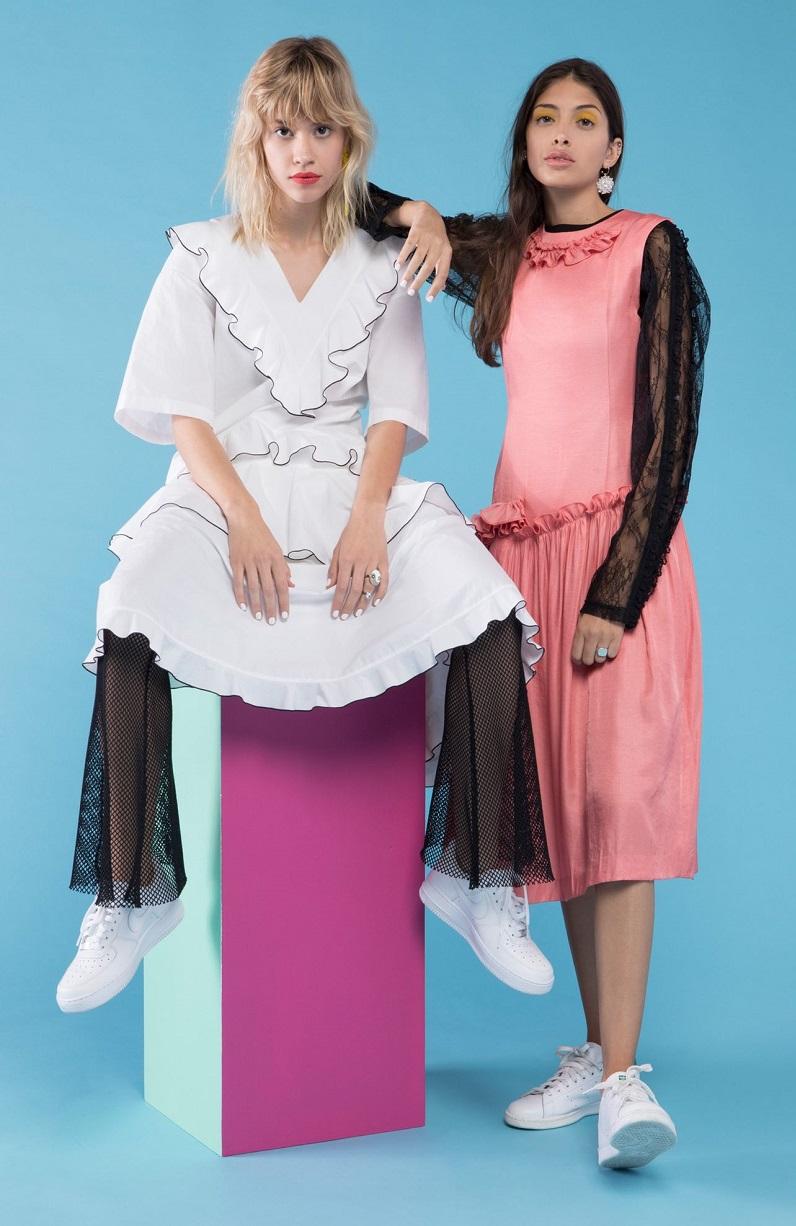 J KOO Ruffle Dress