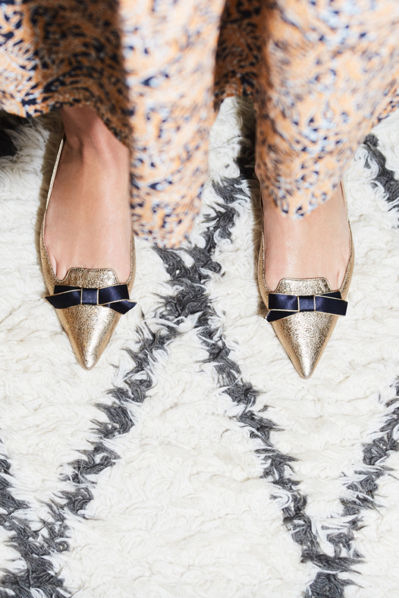 J.Crew Metallic Pointed-Toe Loafers