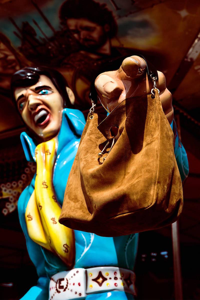 J.W.Anderson Large Pierce Suede Hobo Shoulder Bag