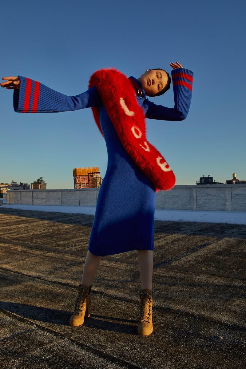 Jamie Wei Huang Cashmere Bell Sleeve Dress