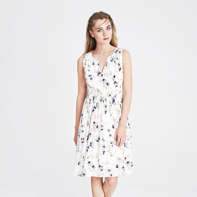 Jigsaw Tinted Bloom Silk Dress