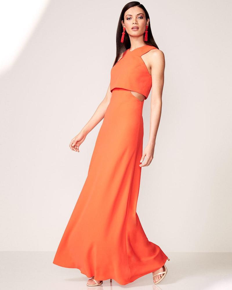 Jill Jill Stuart Sleeveless Crepe Cutout Popover Gown