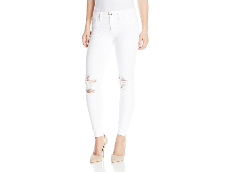 Joe's Jeans Flawless Icon Midrise Skinny Ankle White Jean in Scottie