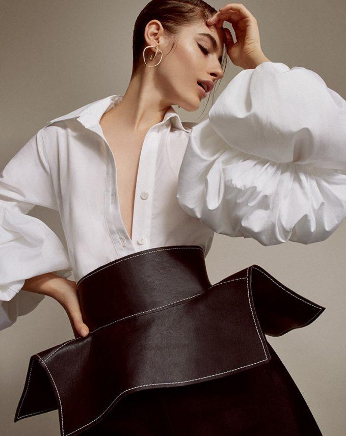 Johanna MO Exclusive San Isidoro Puff Sleeve Top -