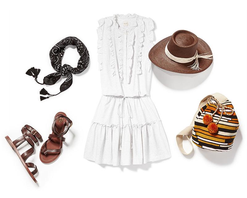 La Vie Rebecca Taylor Sleeveless Ruffle Dress