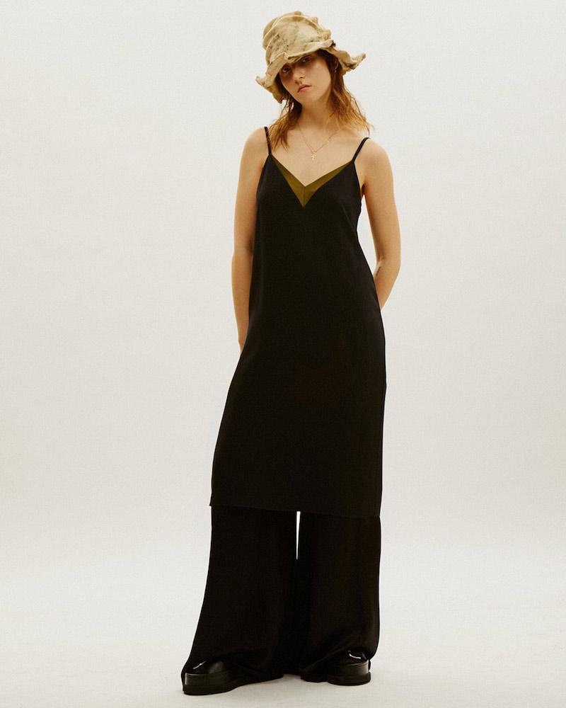 Lanvin Satin V-Neck Slip Dress