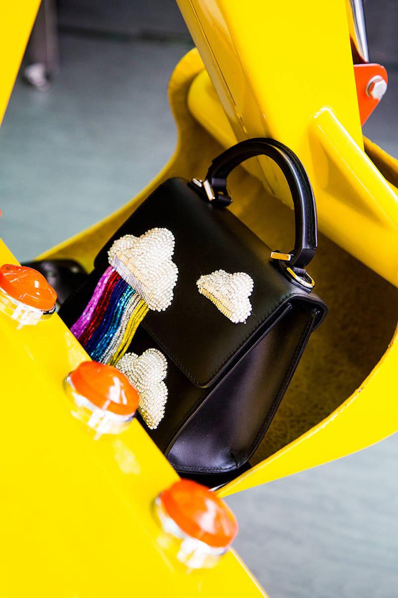 Les Petits Joueurs Micro Alex Cloud Fringed Leather Bag