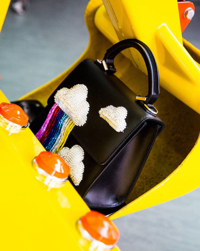 Les Petits Joueurs Micro Alex Cloud Fringed Leather Bag 1