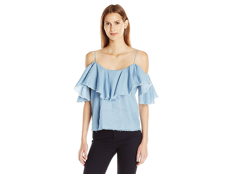 MISA Los Angeles Ruffled Marina Top