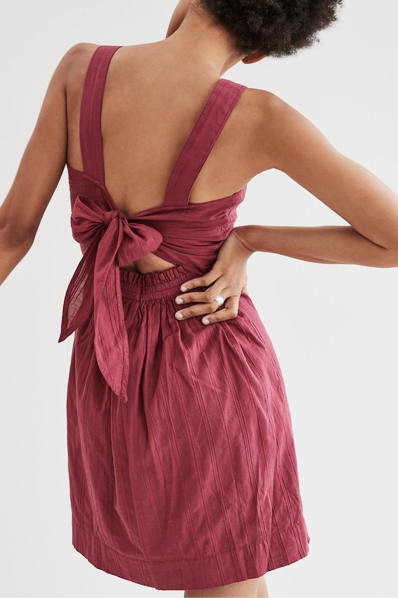 Madewell Apron Bow-Back Dress