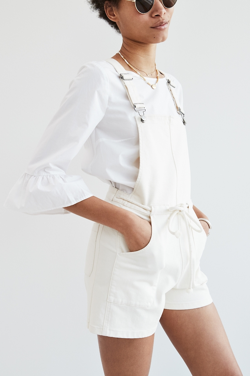 Madewell Belted Short Overalls