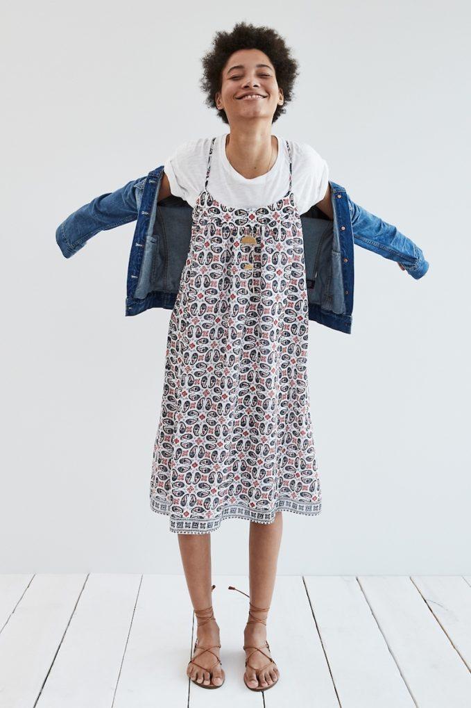 Madewell Cross-Back Cami Dress In Bandana Paisley
