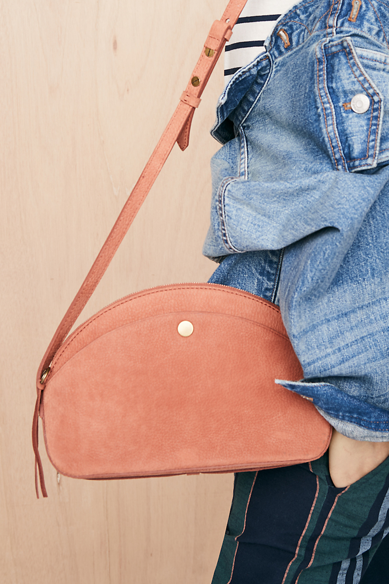 Madewell The Dakota Shoulder Bag in Burnt Ember