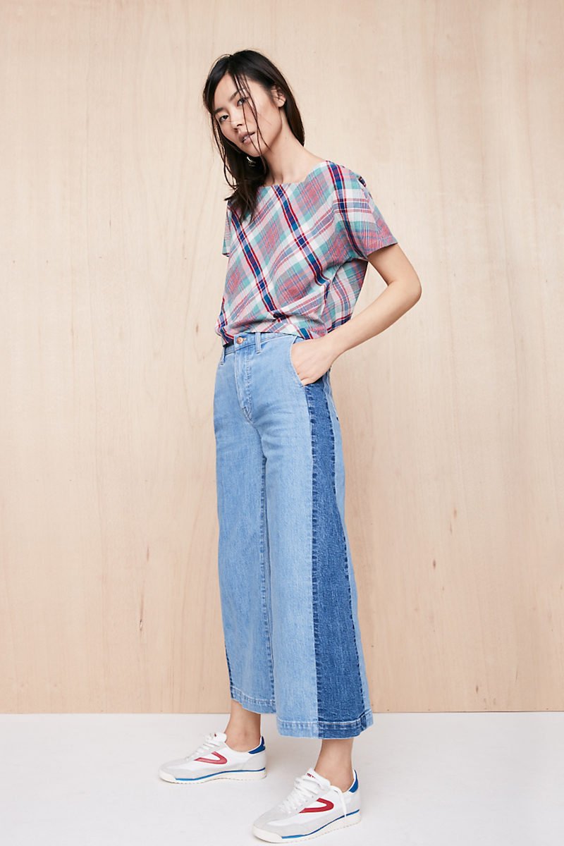 Madewell Wide-Leg Crop Jeans in Ellendale: Pieced Edition