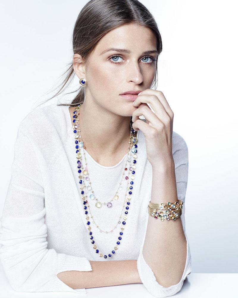 Marco Bicego Paradise Long Mixed-Stone Necklace