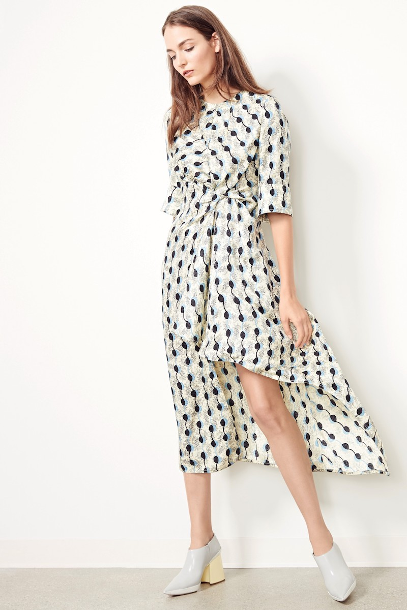 Marni Garland Silk Jacquard Dress
