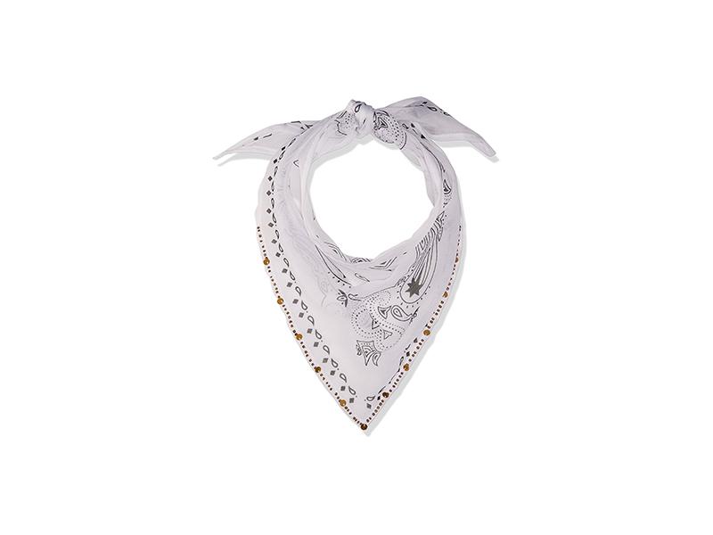Michael Stars Embellished Bandit Triangle Scarf