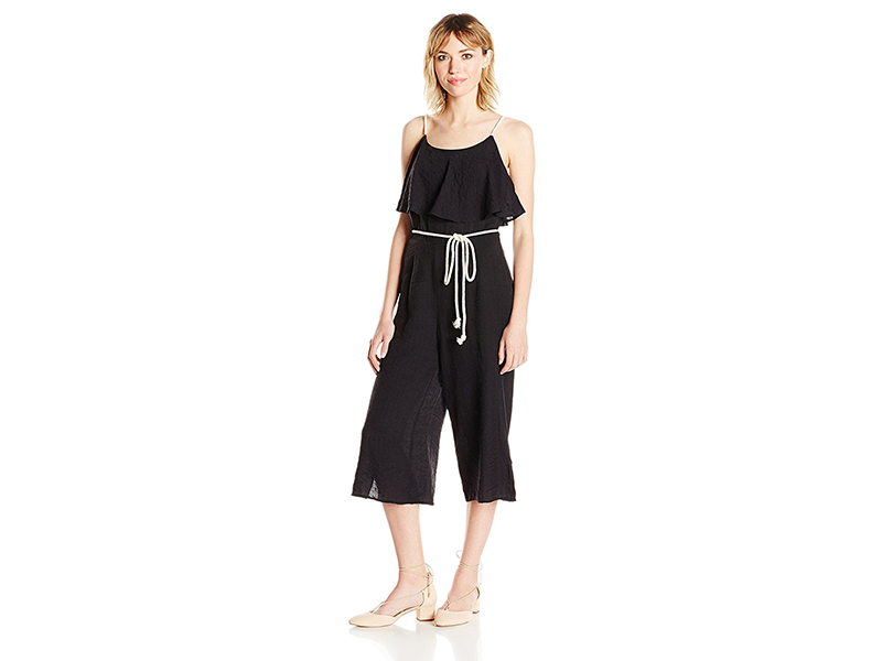 Moon River Rope Detail Ruffle Jumpsuit