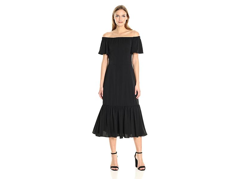 Nanette Nanette Lepore Off Shoulder Flutter Slv Midi Dress