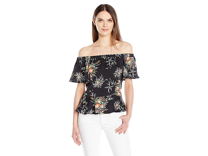 Nanette Nanette Lepore Printed Off the Shoulder