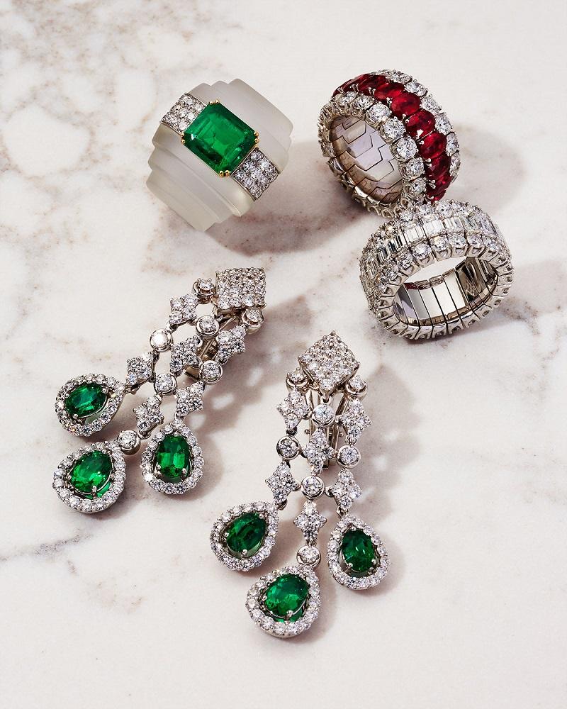 Picchiotti Baguette & Round Diamond Ring