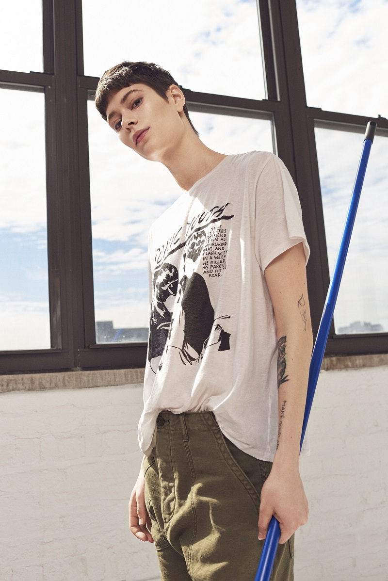 R13 Cotton-Cashmere Sonic Youth T-Shirt
