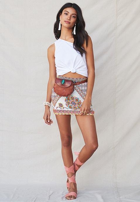 ROCOCO SAND Calypso Mini Skirt